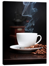 Canvas print  Coffee cup with smoke