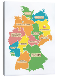 Canvas print  Germany map with labels for learning children - Ingo Menhard