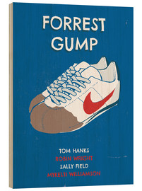 Wood print  Forrest Gump - 2ToastDesign