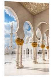 Acrylic glass  View of Sheikh Zayed Grand Mosque