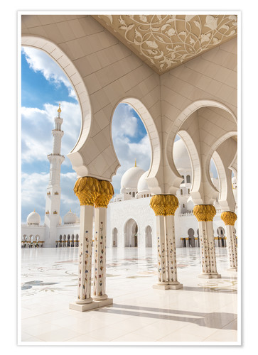 Premium poster View of Sheikh Zayed Grand Mosque