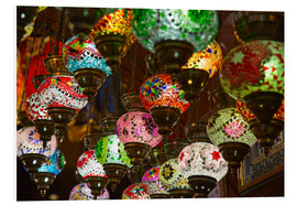 Foam board print  Traditional turkish lamps