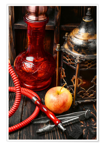 Premium poster Hookah tobacco with apple