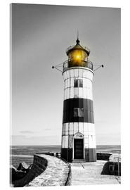 Acrylic print  Lighthouse with yellow light