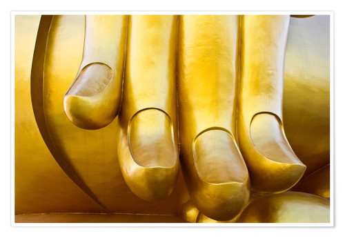 Premium poster Fingers of the Buddha