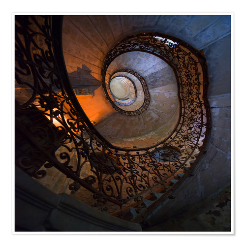 Premium poster Spiral ornamented staircase
