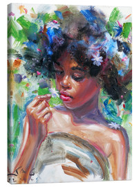 Canvas print  gina blue hair2 - Jonathan Guy-Gladding