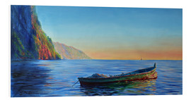 Foam board print  base of petit piton with gommier boat - Jonathan Guy-Gladding