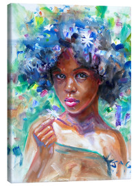 Canvas print  gina blue hair - Jonathan Guy-Gladding