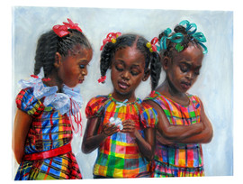 Acrylic print  three girls - Jonathan Guy-Gladding