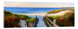 Acrylic print  long beach path - Jonathan Guy-Gladding