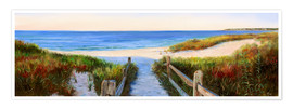 Premium poster  long beach path - Jonathan Guy-Gladding