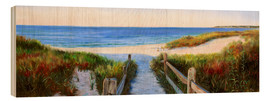 Wood print  long beach path - Jonathan Guy-Gladding