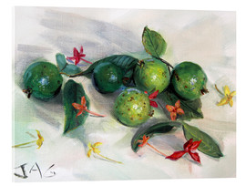 Acrylic print  guavas and ixora2 - Jonathan Guy-Gladding
