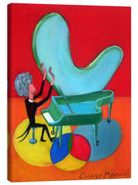 Canvas print  The great pianist - Diego Manuel Rodriguez