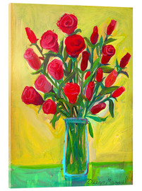 Acrylic glass  Red roses III - Diego Manuel Rodriguez