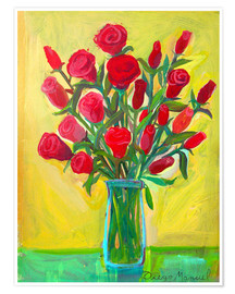 Premium poster Red roses III