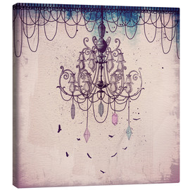 Canvas print  Crystal Chandelier - Sybille Sterk