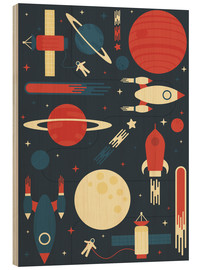 Wood print  Space Odyssey - Tracie Andrews
