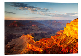 Acrylic print  Sunset on Grand Canyon South Rim, USA - Matteo Colombo