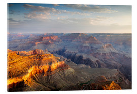 Acrylic print  Sunrise of Grand Canyon South Rim, USA - Matteo Colombo