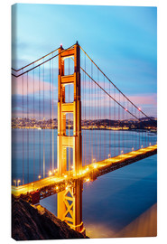 Canvas print  Dawn on the Golden gate bridge, San Francisco, USA - Matteo Colombo