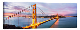 Canvas print  Panoramic of Golden gate bridge, San Francisco, USA - Matteo Colombo