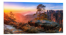 Foam board print  View into the Saxon Switzerland III - Moqui, Daniela Beyer
