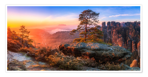 Premium poster View into the Saxon Switzerland III