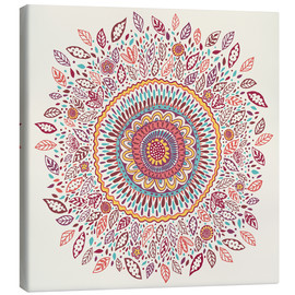 Canvas print  Sunflower mandala - Janet Broxon