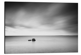 Aluminium print  Stones monochrome in the sea - Filtergrafia