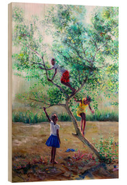 Wood print  Guava tree III - Jonathan Guy-Gladding