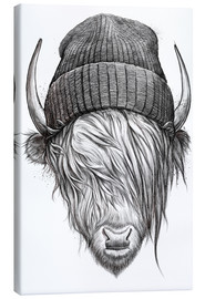 Canvas  Bull in a hat - Nikita Korenkov