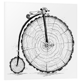 Foam board print  Wooden bicycle - Nikita Korenkov