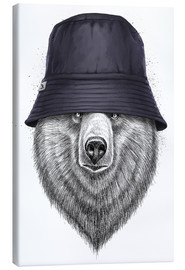 Canvas print  Bear in hat - Nikita Korenkov