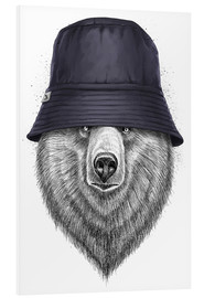 Foam board print  Bear in hat - Nikita Korenkov