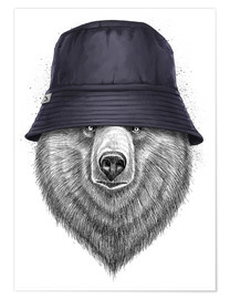 Premium poster Bear in hat