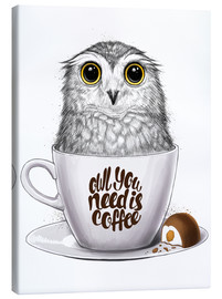 Canvas  Owl you need is coffee - Nikita Korenkov