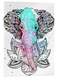 Acrylic print  Elephant in the lotus - Nikita Korenkov