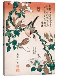 Canvas print  java sparrow on magnolia - Katsushika Hokusai