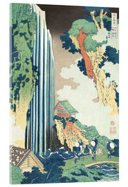 Acrylic print  Ono Waterfall on the Kisokaido - Katsushika Hokusai