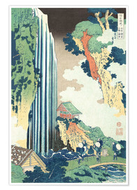 Premium poster  Ono Waterfall on the Kisokaid? - Katsushika Hokusai