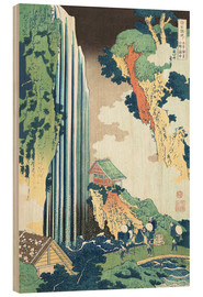 Wood print  Ono Waterfall on the Kisokaid?  - Katsushika Hokusai