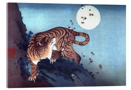 Acrylic print  The Tiger and the moon - Katsushika Hokusai