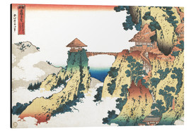 Aluminium print  Bridge at Mount Gyodo near Ashikaga - Katsushika Hokusai