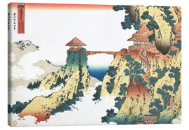 Canvas print  Bridge at Mount Gyodo near Ashikaga - Katsushika Hokusai