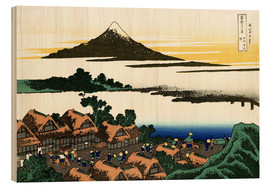 Wood print  Dawn at Isawa in Kai Province - Katsushika Hokusai