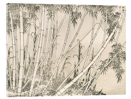 Acrylic glass  Bamboo and Mount Fuji - Katsushika Hokusai