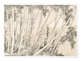 Premium poster Bamboo and Mount Fuji