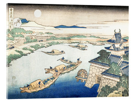 Acrylic print  Moonlight on the Yodo River - Katsushika Hokusai